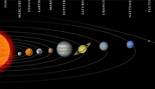 the colors of the planets in solar system - photo #42